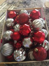 Silver and Red Ornaments in Travis AFB, California