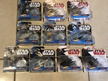 10 Different Star Wars Hot Wheels Die Cast Vehicles New in Packages in Travis AFB, California
