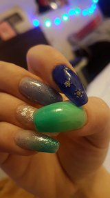 Gel/acril nail extensions with tips or construction in Lakenheath, UK