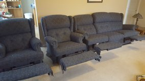 couch and 2 recliners in Sugar Grove, Illinois