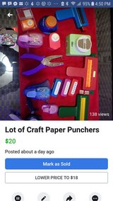 Lot of Craft Paper Punchers in New Lenox, Illinois