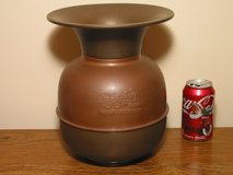 Vintage Spittoon - Brass & Copper Embossed Railroad Theme in Plainfield, Illinois