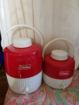 vtg Coleman metal water jugs in Vacaville, California