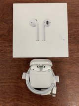 White Apple Airpods with case and charger in Camp Lejeune, North Carolina