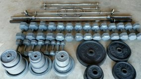 Assorted Weights and Bars in Byron, Georgia