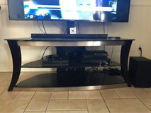 """glass TV stand up to 65"""" in Alamogordo, New Mexico"""