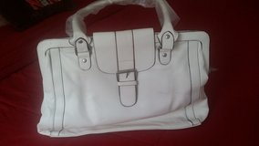 White Leather Purse/Tablet Bag in Fort Rucker, Alabama