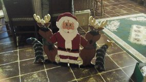 santa and company fireplace screen in New Lenox, Illinois