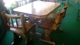 Table with bench and  3 chairs. Exc.cond. in Fort Polk, Louisiana