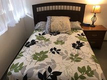 US Double bed with mattress and box spring in Wiesbaden, GE