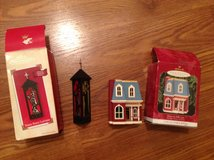 Two Hallmark Keepsake ornaments Collector's Series Three Kings Lantern House Holly Lane in Camp Lejeune, North Carolina