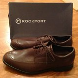 Men's Rockport brown leather dress shoes 13W 13 Wide in Camp Lejeune, North Carolina