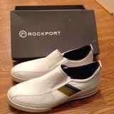 Men's Rockport white leather shoes 13W 13 Wide BRAND NEW in Camp Lejeune, North Carolina