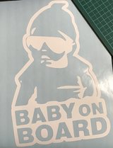 Customized Baby on Board Vehicle decals in Okinawa, Japan