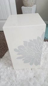 Modern side table with grey floral design in Fort Carson, Colorado
