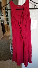 Red dress in Fort Carson, Colorado