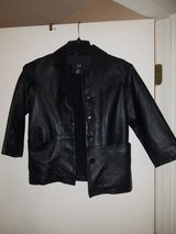 Black leather jacket size small kids in Clarksville, Tennessee