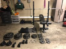 weight bench + 300 lbs  in weights in Columbus, Georgia