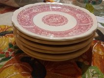 Syracruse CHINA 6pc dessert plates set pink rose floral in Fort Bliss, Texas