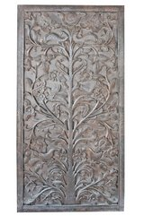 Vintage BODHI TREE Wall RELIEF Sculpture WOOD Hand Carving CLEARANCE SALE in Birmingham, Alabama