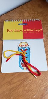 Red Lace Yellow Lace Learn to Tie Your Shoe Interactive Book in Joliet, Illinois