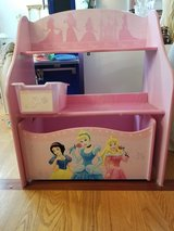Wooden Disney Princess 1 Bin Organizer with Roll Out Toy Box in Pretty Pink in Chicago, Illinois