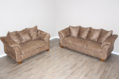 living-room sofa love-seat set - brown in Houston, Texas
