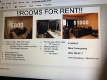 Rooms for Rent in Travis AFB, California