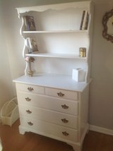 Painted white dresser with shelves in St. Charles, Illinois