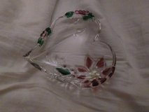 Christmas Heart Shaped Candy Dish in Elgin, Illinois