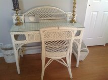 Wicker desk and chair in Oswego, Illinois