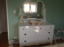White dresser with mirror in St. Charles, Illinois