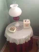 Round side table with lamp in St. Charles, Illinois