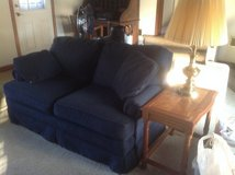 Matching navy loveseat in St. Charles, Illinois
