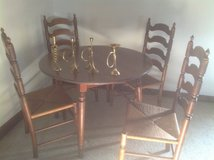 Round Table with 4 Ladder back chairs in St. Charles, Illinois