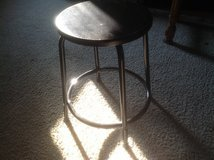 Metal stool in St. Charles, Illinois