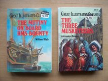 BOOKS:  (1) Mutiny on the Bounty (1) the Three Mutketeers in Wiesbaden, GE