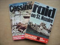 BOOKS: (1) Cassino and (1) Raid on St. Nazaire in Mannheim, GE