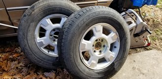 "17"" aluminum rims with tires in Fort Leonard Wood, Missouri"