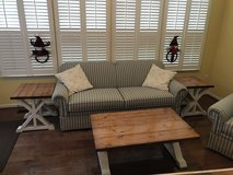 Sofa and Chair with coffee table 2 end tables in Quantico, Virginia