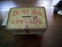 Dixie Kid Cut Plug Lunch Box Tin in Kingwood, Texas