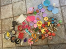 Toy food, plates, cups, bakeware 90+ pieces in Camp Pendleton, California