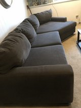 Grey sectional with matching side chair in Westmont, Illinois