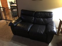 leather loveseat w power recline in Westmont, Illinois