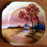 Noritake Hand-painted decorative collectors plate with stand Japan in Camp Lejeune, North Carolina