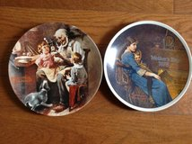 """Knowles NORMAN ROCKWELL collector plates lot Mother's Day 1978 """"Bedtime"""" 1977 """"The Toy Maker"""" in Camp Lejeune, North Carolina"""
