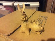 Hand Carved Wooden Rabbits in bookoo, US