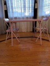 Beautiful Disney Princess Folding Table and Two Chairs In Great Condition in Sugar Grove, Illinois