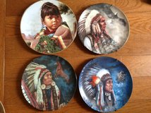American Indian decorative collectors plates lot Hamilton Collection Strong Brave Noble Proud Bo... in Camp Lejeune, North Carolina