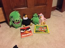 angry bird movie plush and book lot in Oswego, Illinois